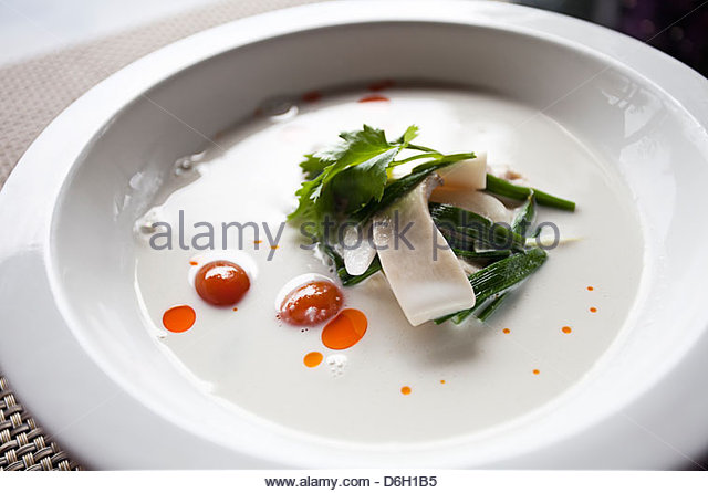 Plate of salad with cheese - Stock Image