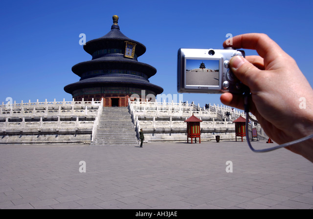 Temple of Heaven Hall of prayer for the Harvest Beijing - Stock Image