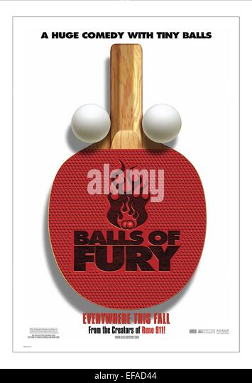 TABLE TENNIS BAT & BALL POSTER BALLS OF FURY (2007) - Stock Image