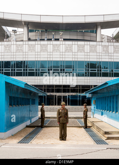 Panmunjom, DMZ, border with South Korea, Kaesong, Democratic People's Republic of Korea (DPRK), North Korea, - Stock Image