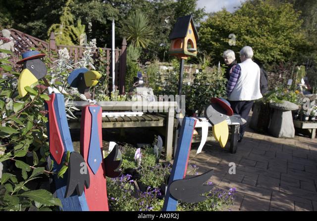 UK, England, Grasmere, Grasmere Nursery, lawn ornaments, - Stock Image