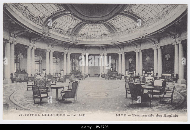 Hotel Negresco, Nice, France, Hall - Stock Image