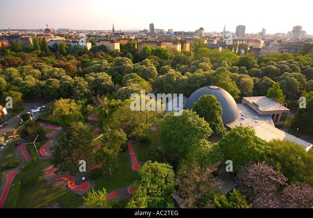 Vienna Austria Prater Big Wheel Panoramic view - Stock Image
