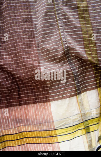 Lungi ; men's wear of the Muslims ; Textile cotton cloth ; Dhaka ; Bangladesh - Stock Image