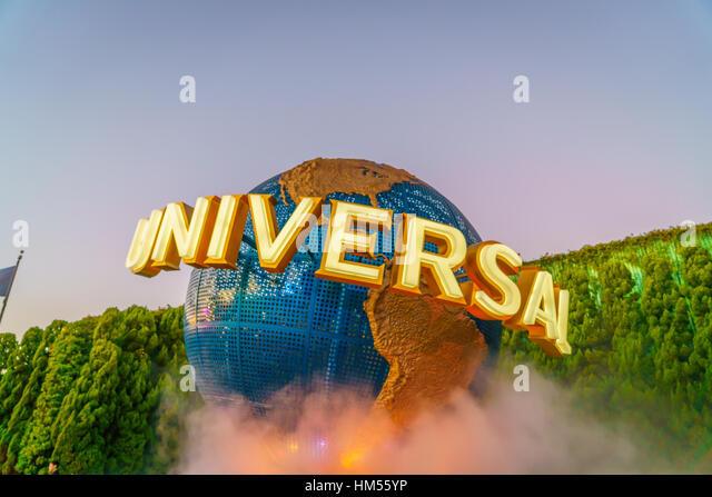OSAKA, JAPAN - December 1, 2015: Universal Studios Japan (USJ). According to 2014 Theme Index Global Attraction - Stock Image