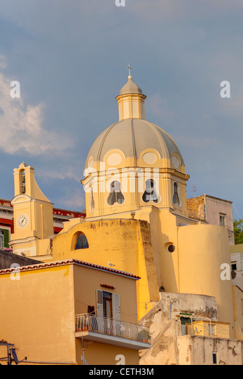 Church. Coricella. Island of Procida. Italy - Stock Image