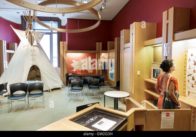 Lower Manhattan New York City NYC NY Financial District National Museum of the American Indian Native Americans - Stock Image