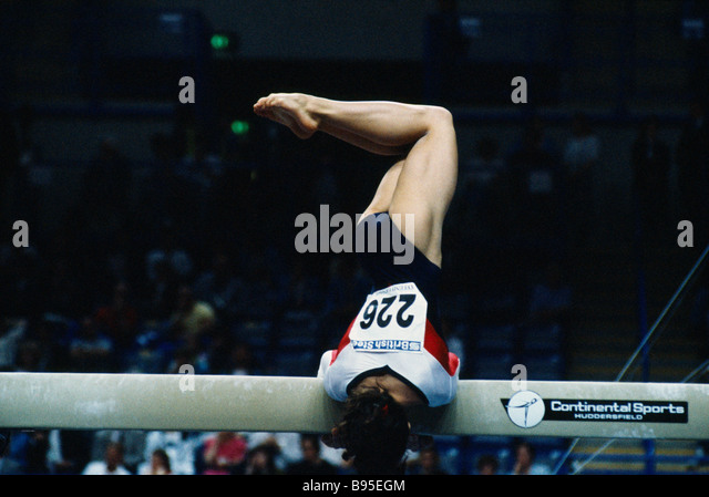 SPORT Gymnastics Beam. Gymnast Char Knight - Stock Image