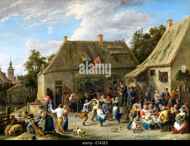 Peasant Kermis - by David Teniers, 1665 - Stock Image
