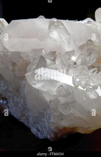 Quartz crystal, abundant mineral of the Chapada dos Veadeiros - Stock Image