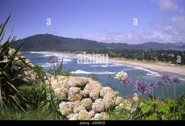 new zealand Coromandel Pauanui beach - Stock Image