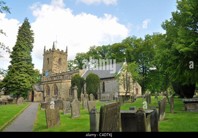 Eyam village, Derbyshire, England: - Stock Image