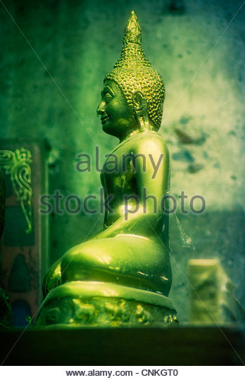 statue of the Buddha in the sitting possition. - Stock Image