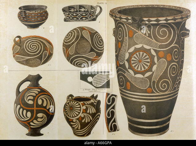 Polychrome Pottery - Stock Image
