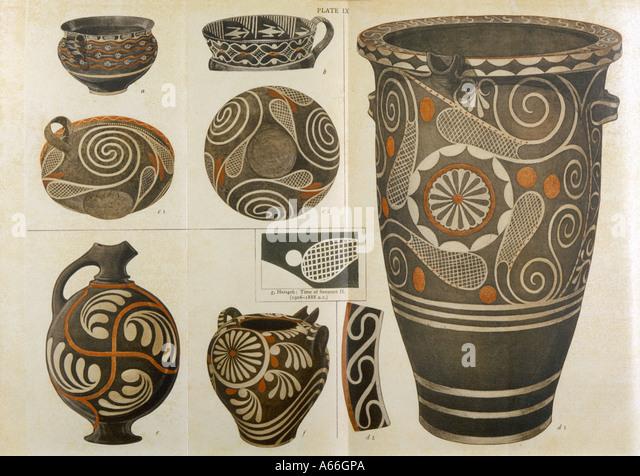Polychrome Pottery - Stock Image