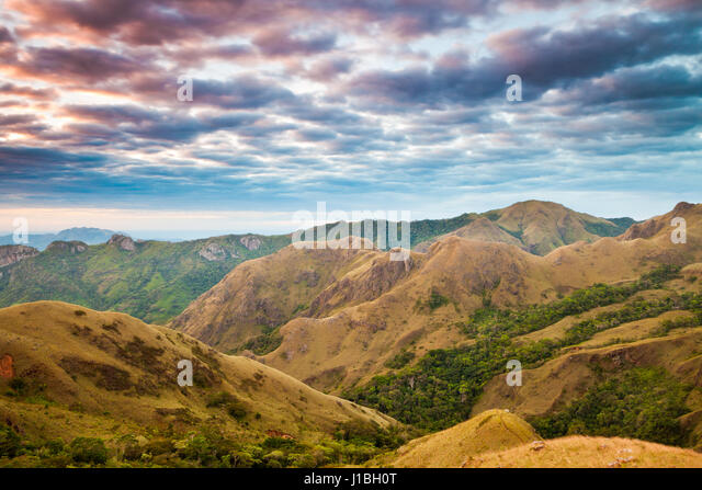 Landscape in Altos de Campana National Park, Republic of Panama. - Stock-Bilder