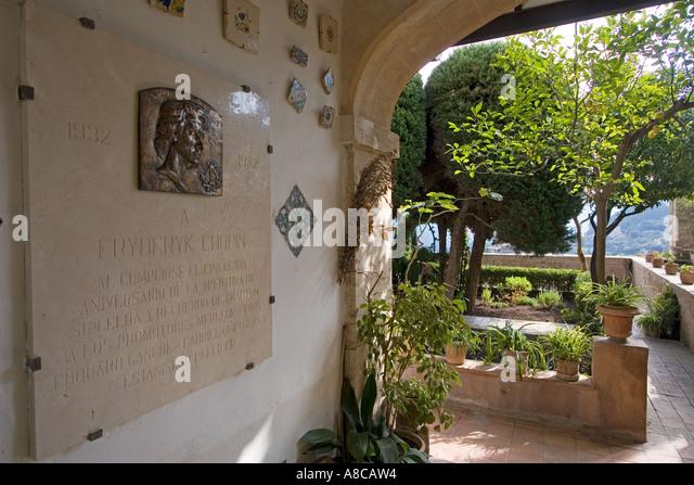 Mallorca Kartause Valdemossa Chopin Museum balcony garden - Stock Image