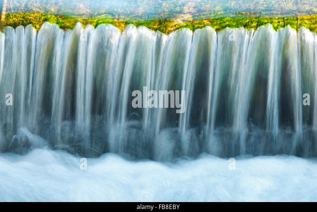 Stream, water close up - Stock Image
