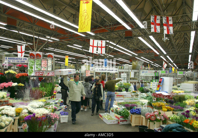 New Covent Garden Flower Market London - Stock Image