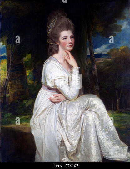 Lady Elizabeth Stanley Countess of Derby - by George Romney, 1778 - Stock Image