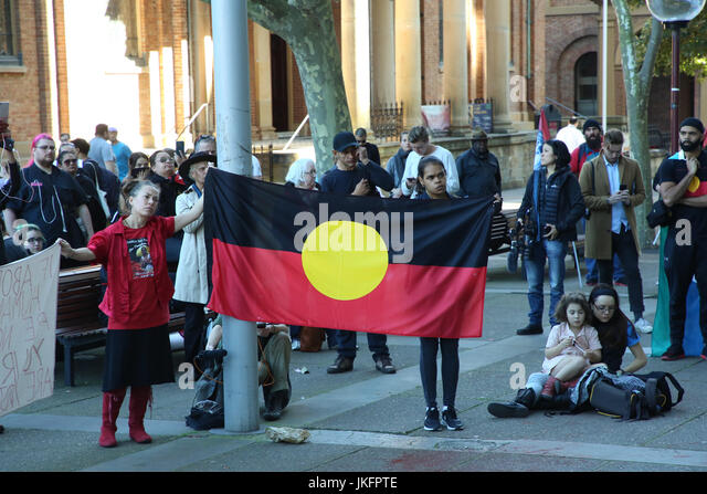 Sydney, Australia. 24 July 2017. Protesters rallied outside the Supreme Court of NSW in Sydney following the court - Stock Image