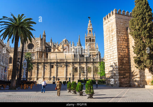 Seville Cathedral Exterior Stock Photos & Seville Cathedral Exterior Stoc...