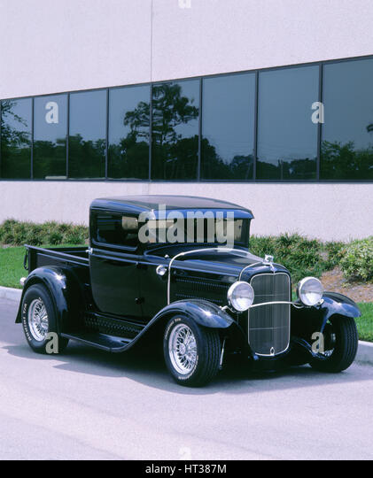 1932 Ford model B customised truck. Artist: Unknown. - Stock Image
