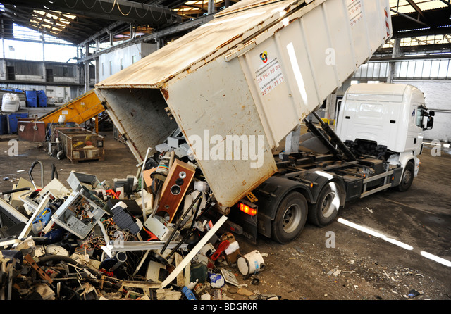 GERMANY HAMBURG recycling of electronic scrap at electronic recycling company TCMG - Stock Image