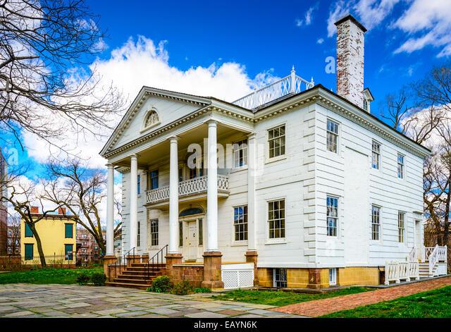 The historic Morris-Jumel Mansion in Roger Morris Park, Washington Heights, New York, New York, USA. - Stock-Bilder