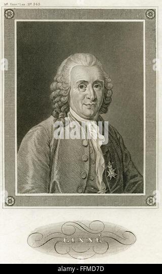 Carl von Linné, circa 1850 - Stock-Bilder