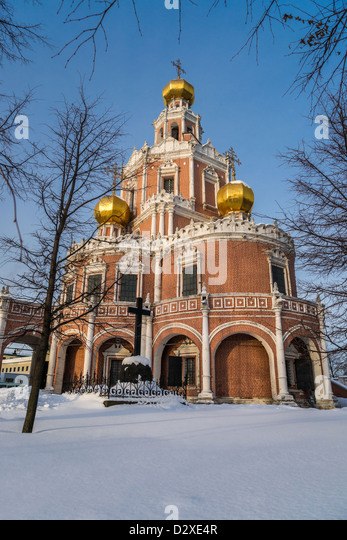 Church of the Intercession at Fili in Moscow (Russia) - Stock Image