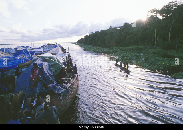 pirogues jungle congo river - Stock-Bilder