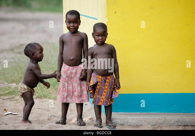 Three brothers in Mozambique - Stock Image