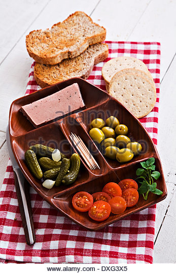 Liver pate entree - Stock Image