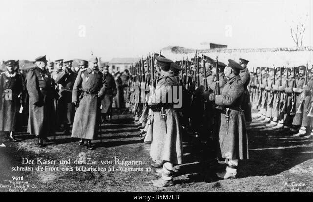 1 W46 F1916 30 E Wilhelm II Czar Ferdinand Nisch 1916 Wilhelm II German emperor 1888 1918 1859 1941 During WWI 1914 - Stock Image
