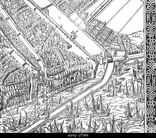 Cornelis Anthonisz. 003 detail 04 - Stock Image