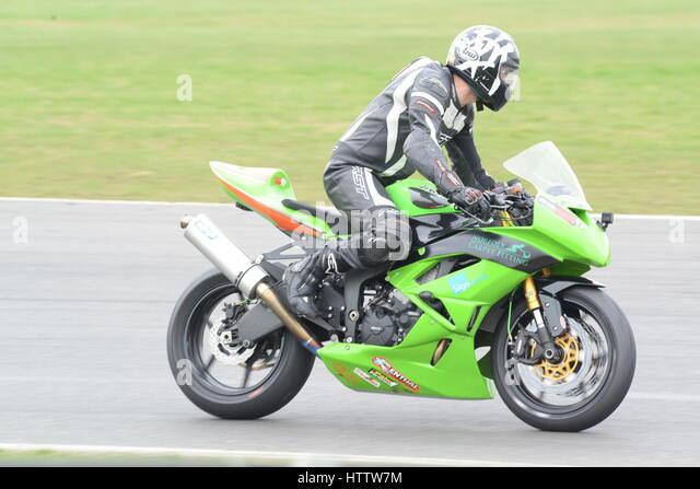 Daytona Dog Track >> Motorbike With Leather Stock Photos & Motorbike With Leather Stock Images - Alamy