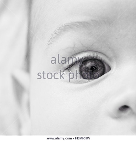 Cropped Image Of Human Eye - Stock Image