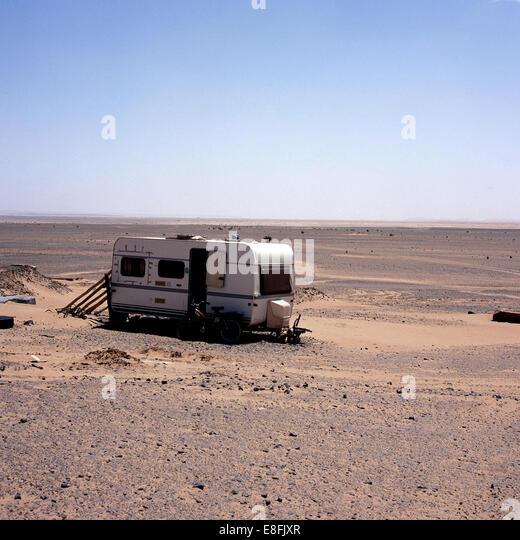 Morocco, Caravan on desert - Stock Image