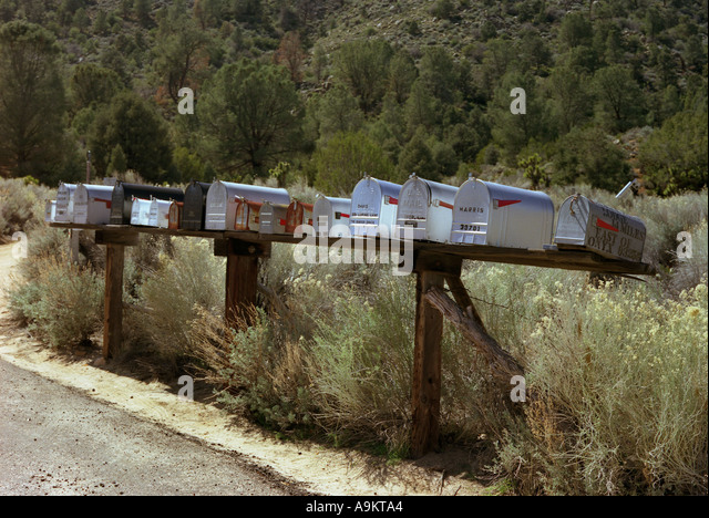 Mailboxes in California USA - Stock Image