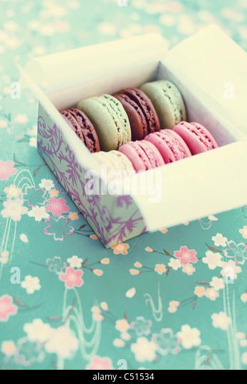 Box of macarons - Stock-Bilder