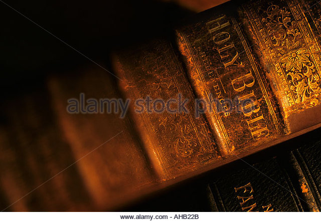 Holy Bible book still-life - Stock-Bilder
