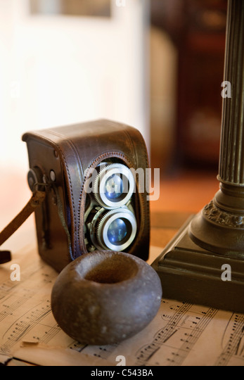 Vintage and antique photography equipment - Stock Image
