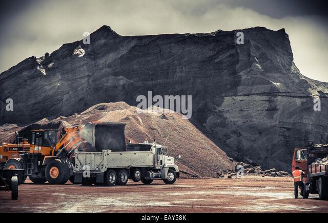 Surface coal mining - Stock Image