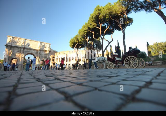 Italy, Rome, Rom, Roma,  coliseum, colosseo, colosseum, Arco di Costantino, arc - Stock Image