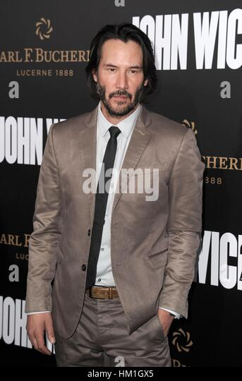 Los Angeles, CA, USA. 30th Jan, 2017. Keanu Reeves at arrivals for JOHN WICK: CHAPTER TWO Premiere, Arclight Hollywood, - Stock-Bilder