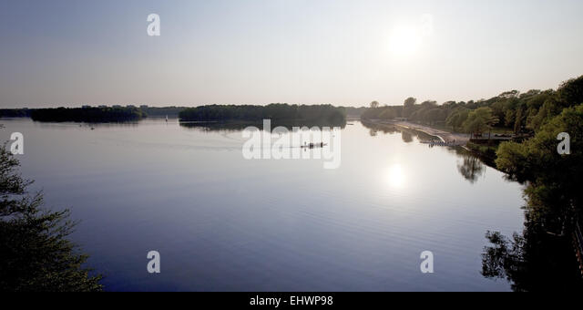 Recreation Area Six Lakes, Duisburg, Germany. - Stock Image