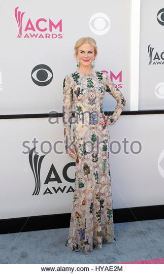 52nd Academy of Country Music Awards - Arrivals - Las Vegas, Nevada, U.S., - 02/04/2017 - Actress Nicole Kidman. - Stock-Bilder