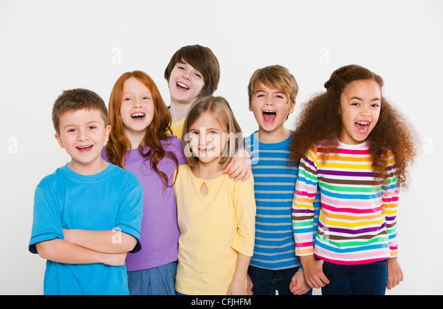 Happy children - Stock Image