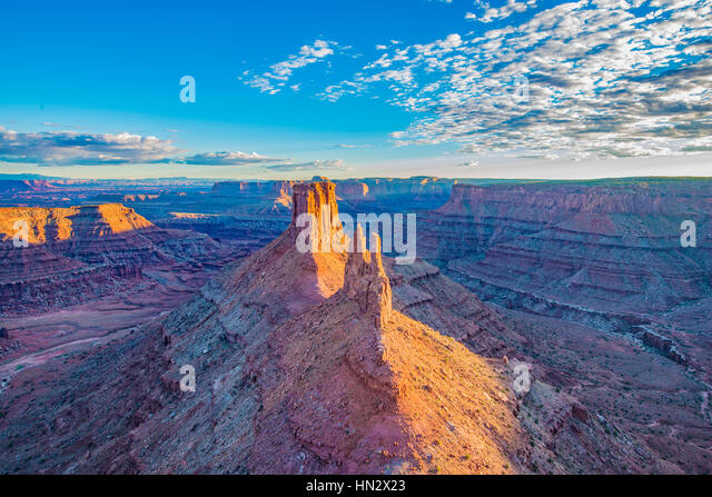 View from Marlboro Point,  Canyonlands National. Park, Utah, Crows Head and Birds Eye Buttes, Shafer Canyon - Stock-Bilder